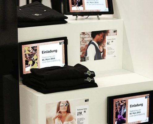 Online Software AG Fashiontreppe Druck Digital Signage