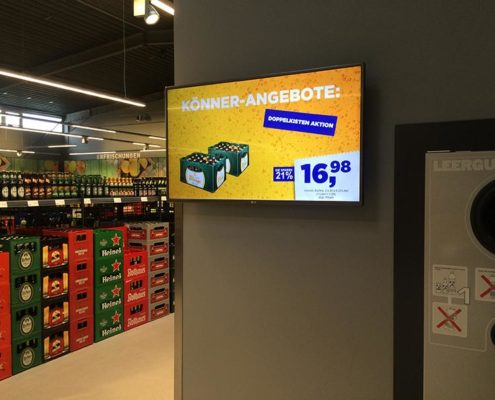 Online Software AG REWE FürSie Cash Future Store Bonn Digital Signage