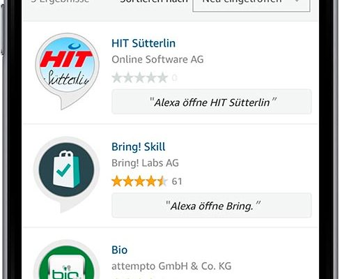 Online Software AG Hit Sütterlin Alexa Skill Store