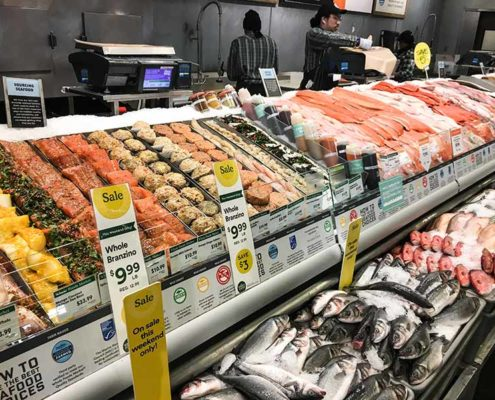frischetheke fisch im whole foods new york