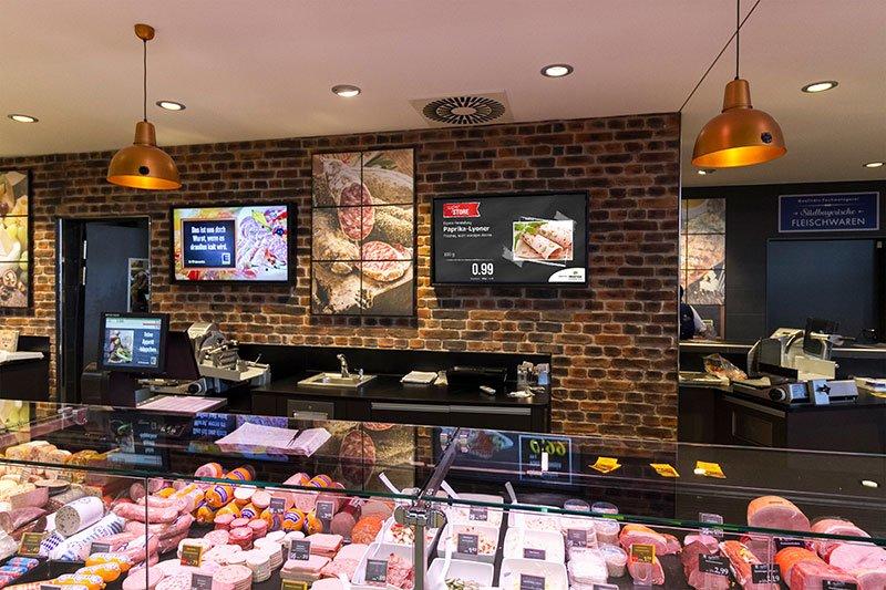 Vorlagenbeispiel Digital Signage Display Angebot Plakat Frischetheke Lebensmitteleinzelhandel