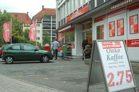 schneidermarkt A1 Plakat Aufsteller Ansicht beim Eingang