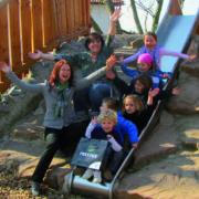 Sandy Heinzmann macht Gruppen Foto im Kindergarten St. Josef
