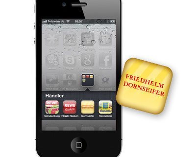 Mobil Telefon mit Beispiel der Dornseifer App