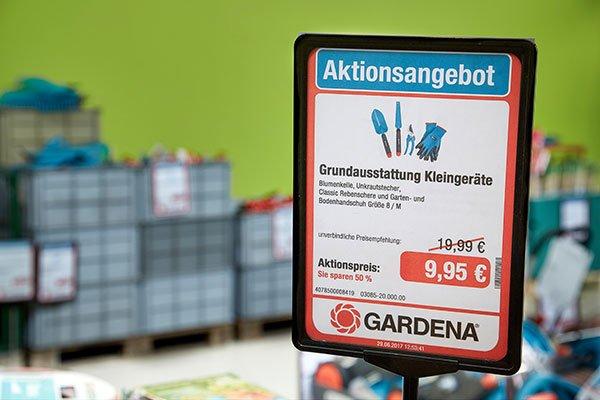 Drucklösung Plakataufteller Gardena Geislingen Aktionsangebot