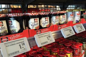 Elektronische Regaletiketten ESL Lebensmitteleinzelhandel Marmelade