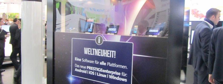 PRESTIGEenterprise EuroCIS 2013 Weltneuheit Mobile