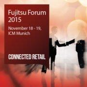 Plakat Fujitsu Forum 2015 Grafik mit Schriftzug und Termin