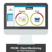 Grafik PECM Client Monitoring with PRESTIGEenterprise