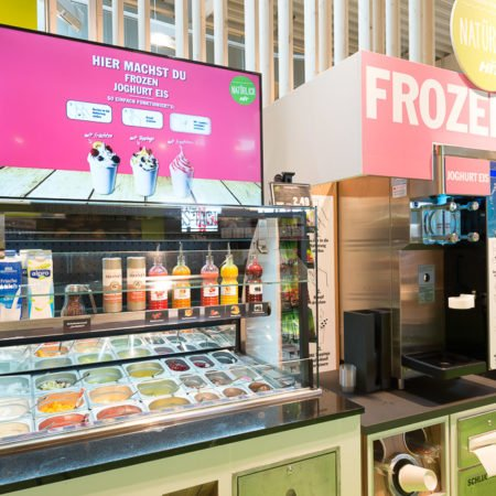 HIT Hohle Digital Signage Display Frozen Joghurt Eis Maschine