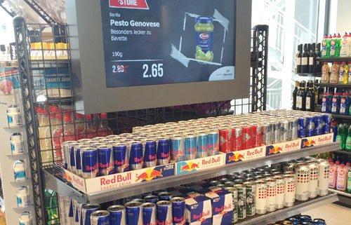 GS1 POSlive Bildschirmwerbung PRESTIGEenterprise Getränke