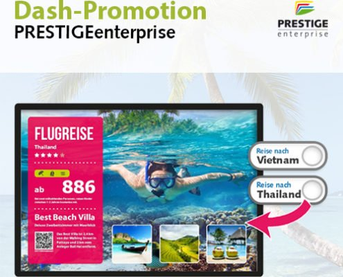 Online Software AG PRESTIGEenterprise DashPromotion Display travel