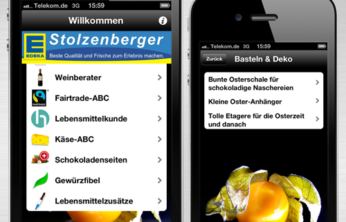Edeka Stolzenberger Mobile App mit Fairtrade Modul für IOS iPhone