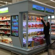 real ShelfVision Display Kühlregal Lebensmitteleinzelhandel