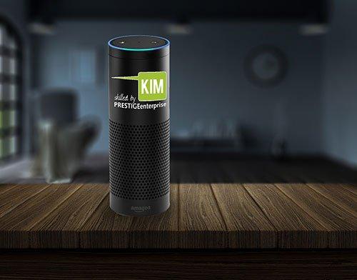 Sprachassistent Alexa skilled by KIM PRESTIGEenterprise