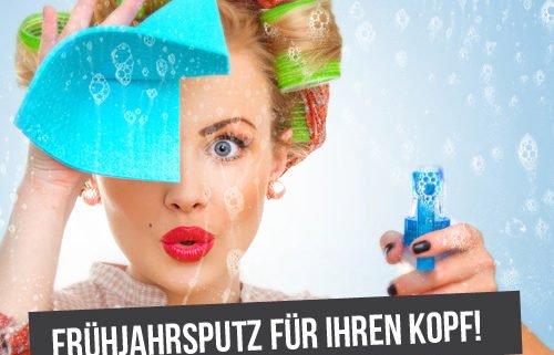 Trendwebinare Plakat Frühjahrsputz für Ihren Kopf