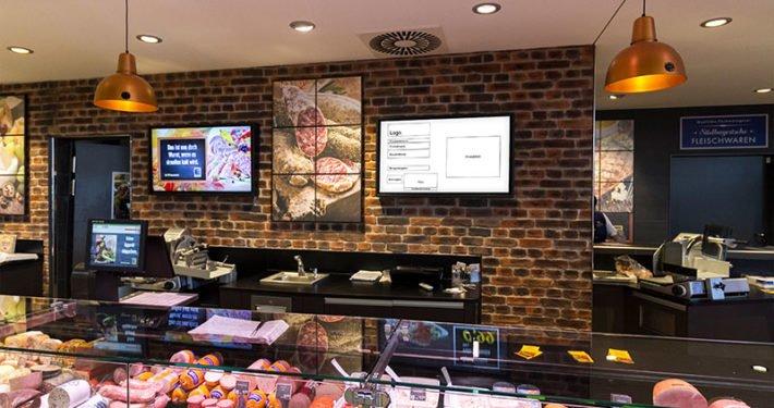 Displaywerbung Lebensmitteleinzelhandel Frischetheke
