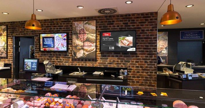 Displaywerbung Lebensmitteleinzelhandel Frischetheke 2