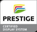 Logo PRESTIGE certicied display system