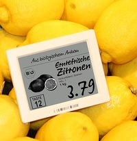 Electronic Shelf Labels Zitronen