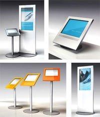 Collage kiosk poygon Stele