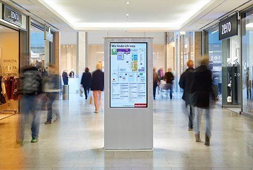 dodenhof setzt Kiosksysteme zur digitalen Wegleitung ein