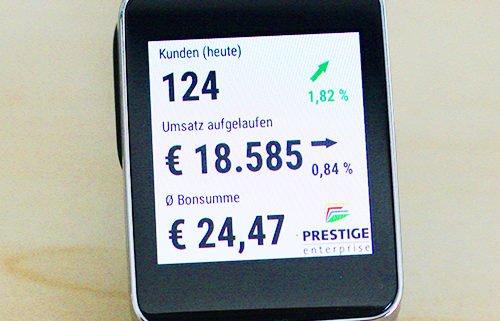 PRESTIGEenterprise smartwatch Analyse Personenzählung