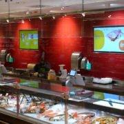 tegut Digital Signage Display Angebote an der Frischetheke