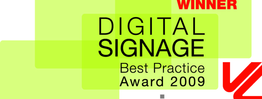 Logo viscom Digital Signage Best Practice Award 09 WINNER