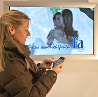 Mobile App Digital Signage Display Werbung