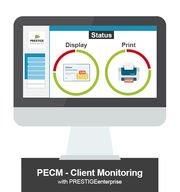 Grafik PECM Client Monitoring by PRESTIGEenterprise