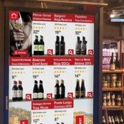 Infintiy Shopping Shelf Bildschirm Übersicht Wein