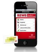 REWE Nüsken Mobile App iPhone mainscreen