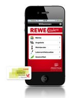 REWE Nüsken Mobile App iPhone mainscreen