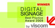Grafik viscom Digital Signage best practice Award 2009