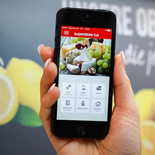 Superstore App für Händler mit PRESTIGEenterprise AppBaukasten