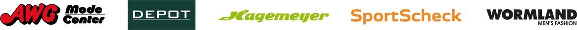 Logos von Fashion und Lifestyle Unternehmen mit der Software PRESTIGEenterprise