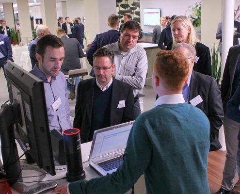 Workshop für Alexa Lösungen auf dem PRESTIGE Partnertag 2018 der Online Software AG