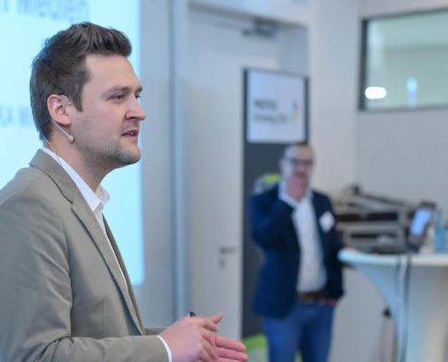 Christian Minz von EDEKA Minden-Hannover referiert auf dem PRESTIGE Partnertag 2018