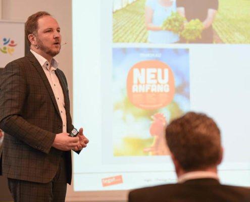 Bereichsleiter Marketing-Service bei tegut Rainer Rausch auf dem PRESTIGE Partnertag 2018