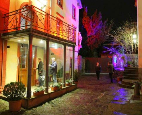 Eingang Heidelberger Kulturbrauerei mit Abendveranstaltung PRESTIGE Partnertag 2018