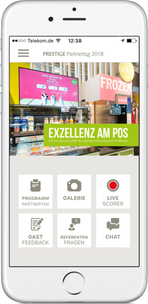 iPhone App zum PRESTIGE Partnertag
