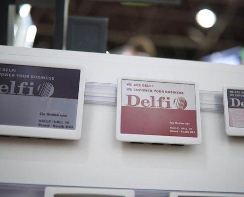 Electronic Shelf Label ESL von Delfi mit Vorlagen aus PRESTIGEenterprise