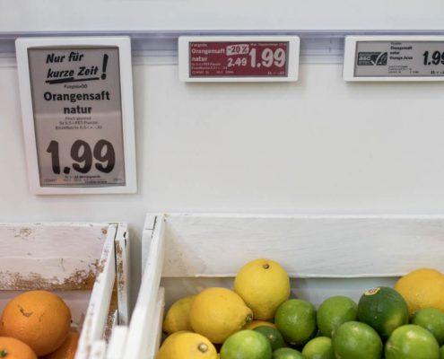Electronic Shelf Labels ESL von Delfi mit Vorlagen von PRESTIGEenterprise