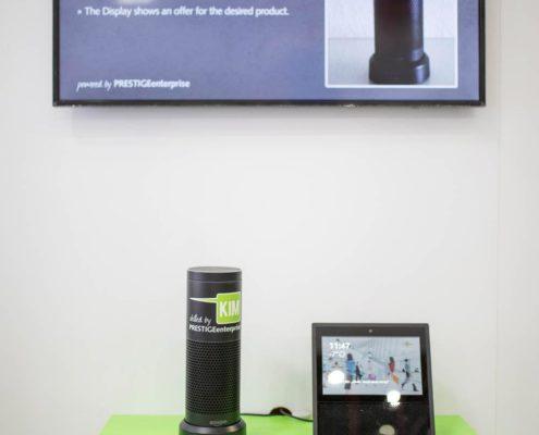 POS Marketing Digitale Signage Lösungen mit dem Strachassistenten Alexa und Alexa Show auf der EuroCIS