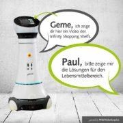 Roboter Paul zeigt Lösungen für die Kundenansprache