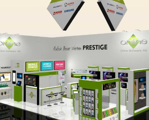 Scribble EuroCIS Stand Online Software AG mit Digital Signage Lösungen