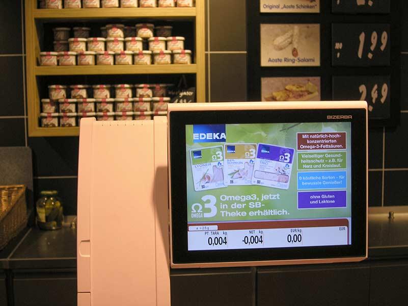 Wursttheke mit Bizerba Waage und Softwarelösungen Cross-Merchandising von PRESTIGEenterprise