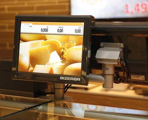 Waagenlösung für digitale Promotion an der Käsetheke bei EDEKA basierend auf PRESTIGEenterprise