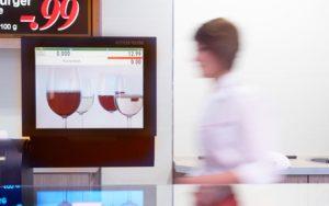 Digital SignageThekenwaage - Bildschirm Thekenwaage mit Weingläsern